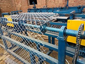 Galvanized Chain Link Fence Fabric Weaving