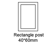 Rectangle Post