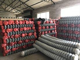 Galvanized Chain Link Fence Storage