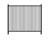 A: flat top steel fence