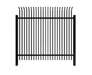 D: curved top steel fence