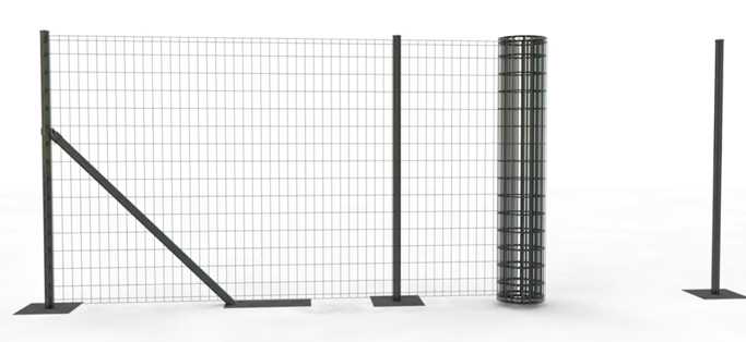 Install the roll euro fence