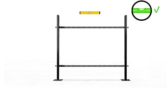 Install the Horizontal angle rails