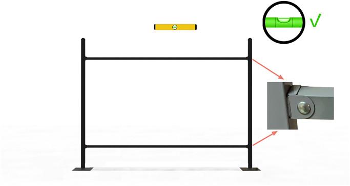 Install the horizontal rails